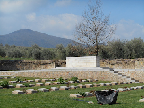 A view over the CWGC Struma Military Cemetery