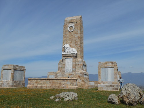The Doiran Memorial on Colonial Hill, northern Greece. Photo taken by the author in March 2016.