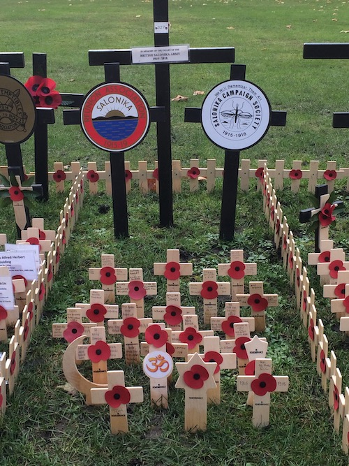 The Salonika Campaign plot at the 2019 Field of Remembrance by Westminster Abbey.