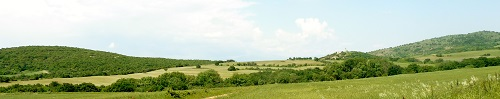 Photograph - Typical terrain in 60 Divisional area. © Harry Fecitt
