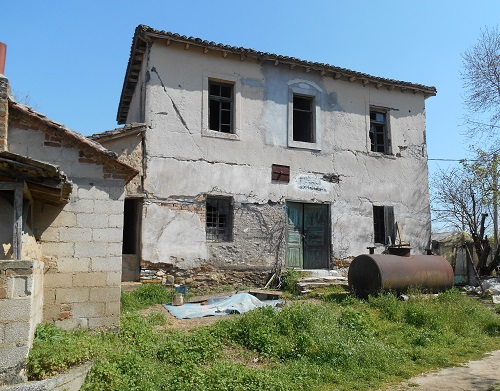 Ottoman period building at Tumbitza Farm in the Struma valley - possibly used by the farm manager - near the modern, small town of Neos Skopos. Photograph taken by Robin Braysher in March 2016.