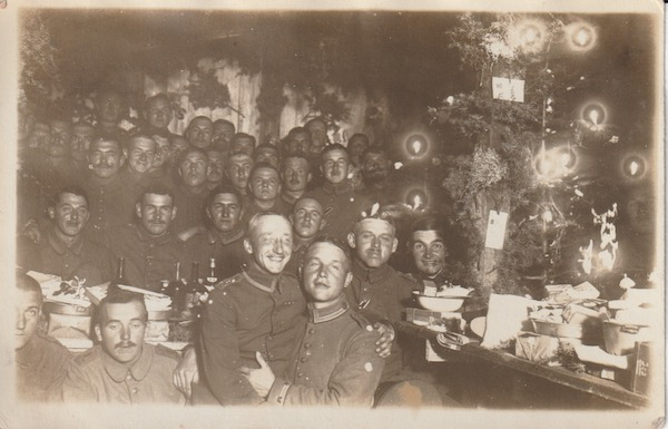 German soldiers enjoying Christmas in the Balkans.