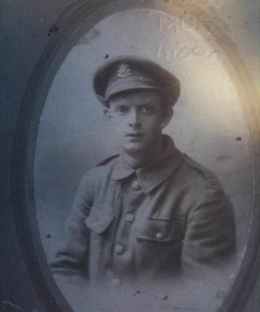 Photograph of 18855 Private William Thomas Gould, 1/Welsh, killed in action on 28 February 1917 and buried in the Struma Military Cemetery.