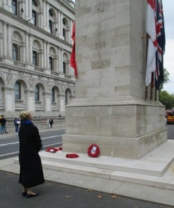 The Honourable Ann Straker at the Cenotaph in Whitehall on 5 October 2019. (Photo by Keith Roberts)