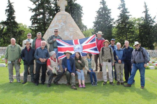 SCS Battlefield Tour, May 2016: Tour group at the Doiran CWGC Cemetery