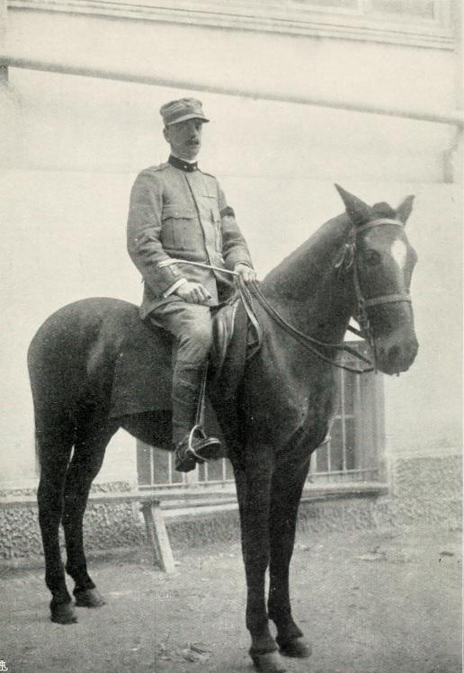 Photograph of Luigi Villari, Italian Army, liaison officer with allied forces in Salonika, 1915-1918.