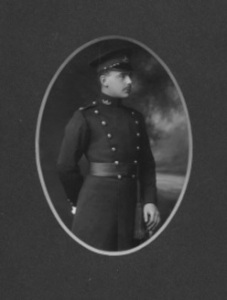 Photograph of Second Lieutenant E G H Power, 2nd Gloucestershire Regiment, early in his army career. © Richard Power
