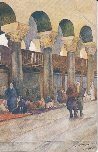 Postcard (front): Salonica 236 - Aghia Paraskevi church - sent 17 January 1918