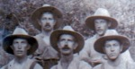 A group of soldiers in slouch hats