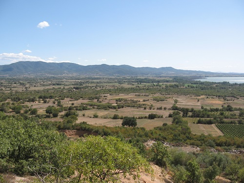 The ground crossed by XVI Corps and the Greek Cretan Division during the flanking attack north of Lake Doiran on 18 September 1918 (looking towards the Krusha Balkan Hills). (Alan Wakefield, September 2018)