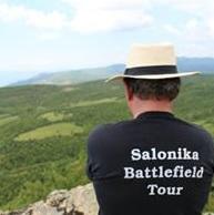 SCS tour photo - a participant surveys one of the battlefields.