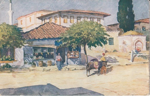 Postcard (front): Salonica 238 - Kassandra Street - sent 19 January 1918