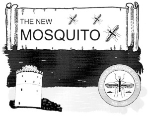 Header of the New Mosquito, showing the White Tower and the logo of the Salonika Campaign Society