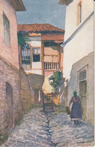 Postcard (front): Salonica 234 - The Alley of the Well