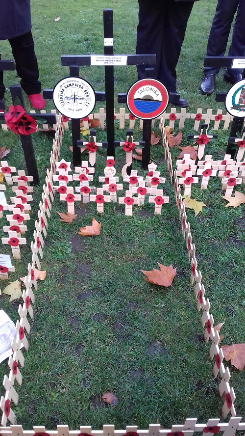 SCS Plot at the Royal British Legion's Field of Remembrance, November 2018. Photo by Alan Wakefield.