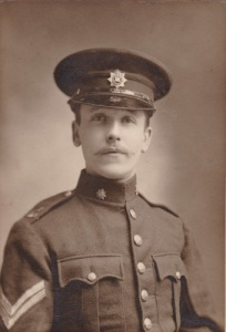 Portrait of Corporal William James Pearce, Devonshire Regiment, 1910.