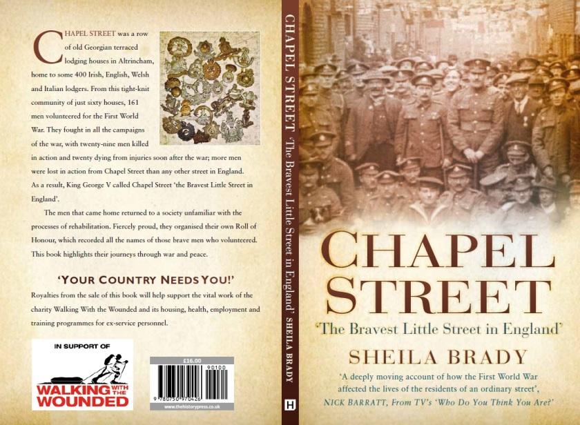 Covers to 'Chapel Street' by Sheila Brady (History Press, 2017)