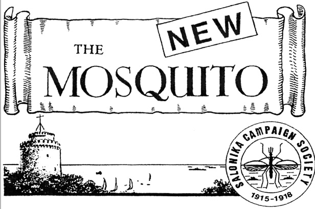The logo of 'The New Mosquito', printed journal of the Salonika Campaign Society.