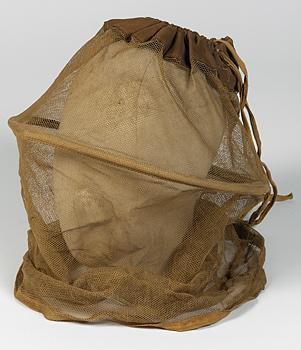 A mosquito net head cover as issued to the BSF (IWM EQU 3855)