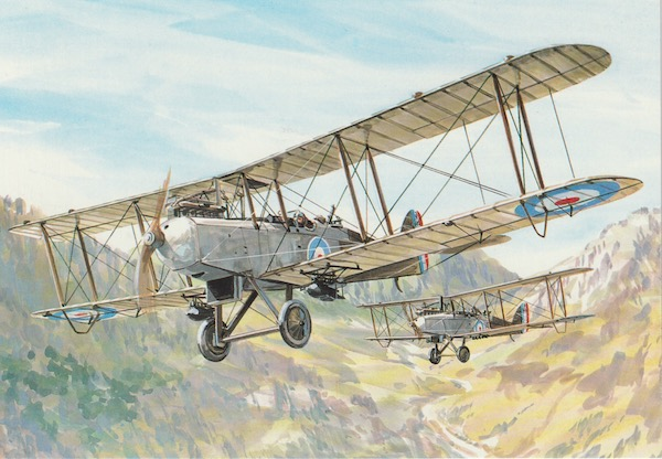 Postcard No. 60 - The Aeroplanes of the Great War (1914-1918) by Tony Theobald; published by The Bittern press, Southampton (1998).