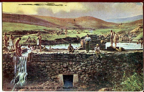 Postcard: Tommy's bathing place at Salonica