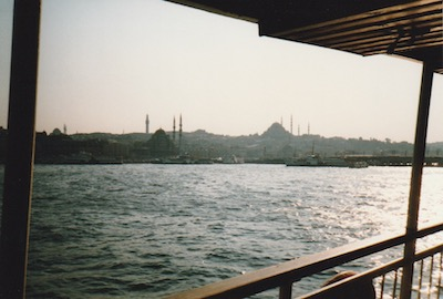 View of Istanbul from a ferry on the Bosphorus, 1988 (photo from the Braysher collection).